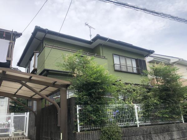鶯色のお家に!屋根・外壁塗装