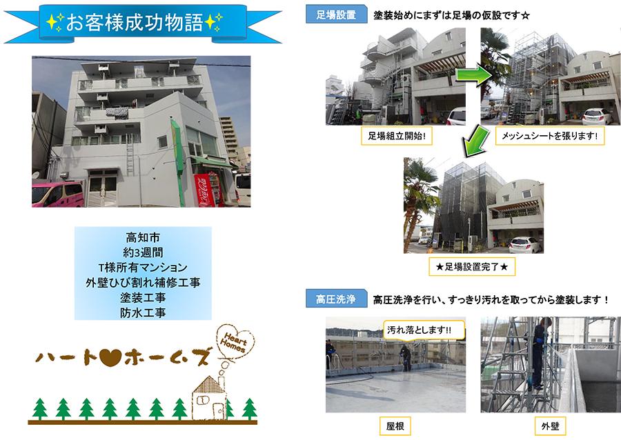外壁ひび割れ補修工事・塗装工事・防水工事